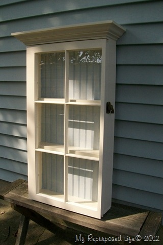Cabinet from Old Storm Window