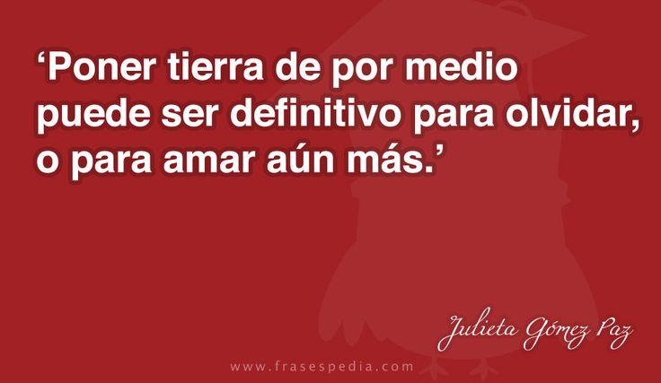 Frases de amor de Julieta Gómez Paz