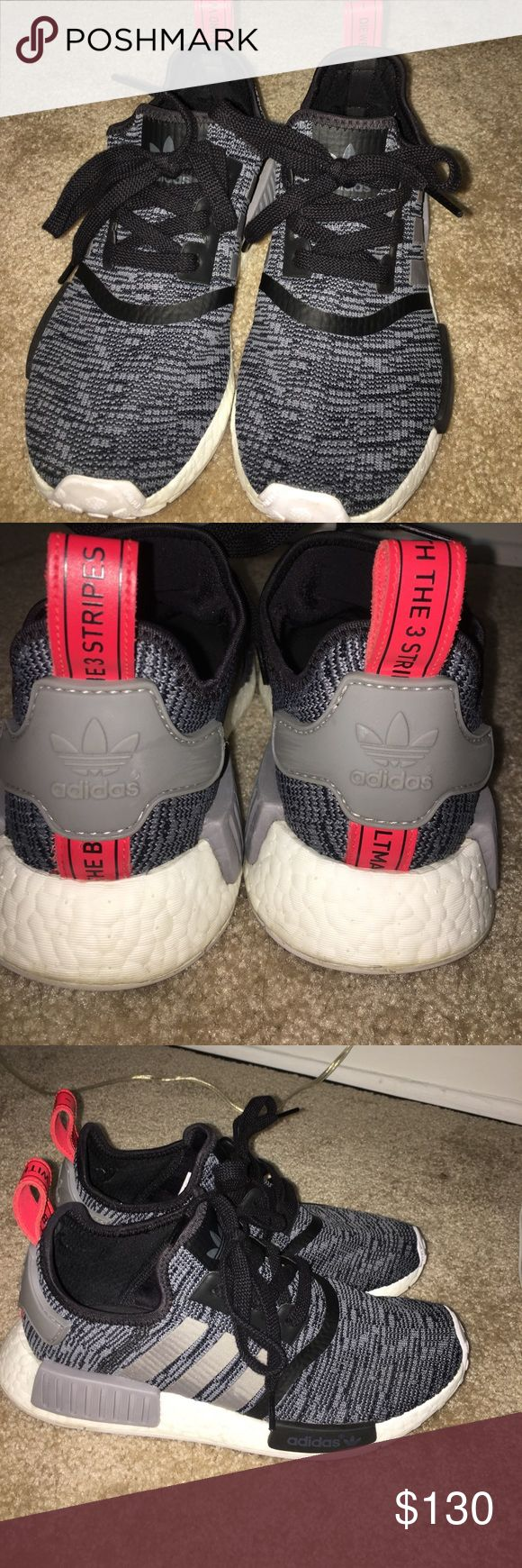 Adidas NMD Size 7. Black white gray and red. Really look to get rid of because I have several NMD and I want to purchase a pair of adidas Tubulars or trade. adidas Shoes Athletic Shoes