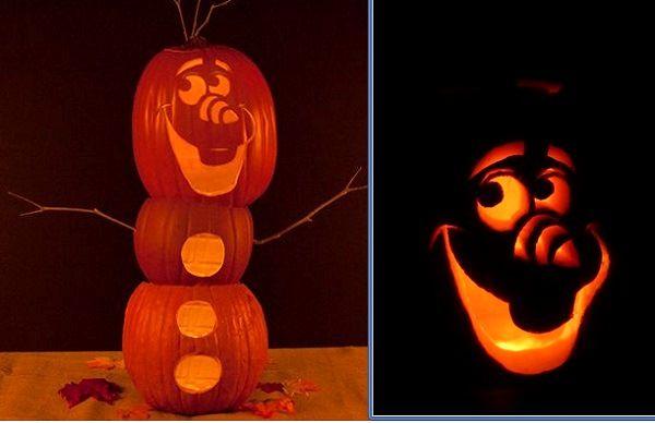Frozen olaf pumpkin carving