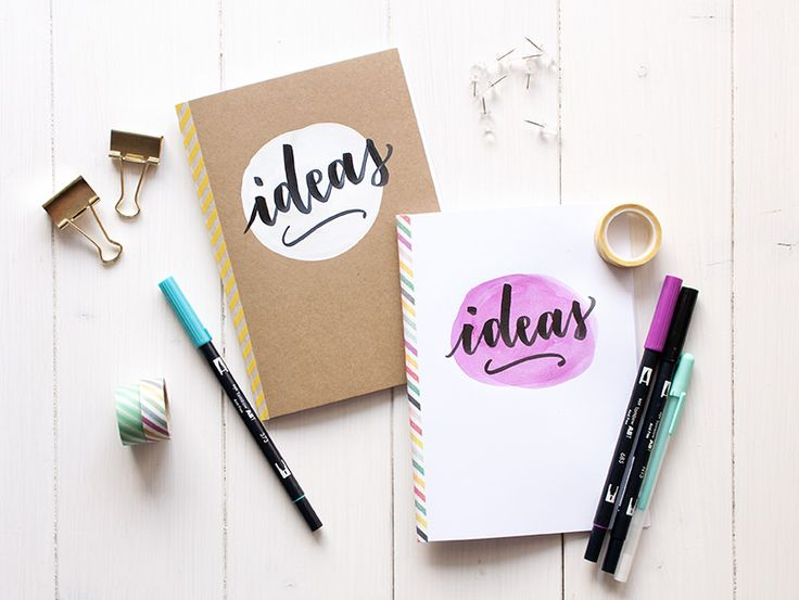 Tutorial libreta lettering y acuarela blanco y craft. LA GATA CON BOTAS, todo sobre caligrafia, lettering y creatividad