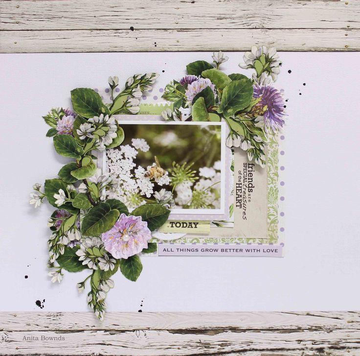 Kaisercraft Botanica - Today layout by Anita Bownds (1)