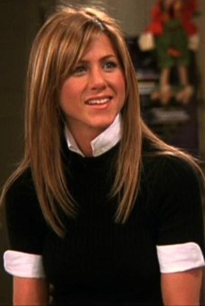 This is my favorite Jennifer look - hair and outfit from one of the Thanksgiving episodes from FRIENDS.