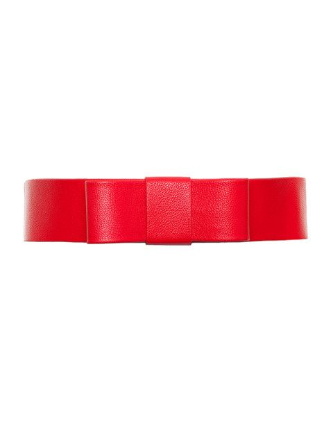 Alexia Bow Belt in Rouge