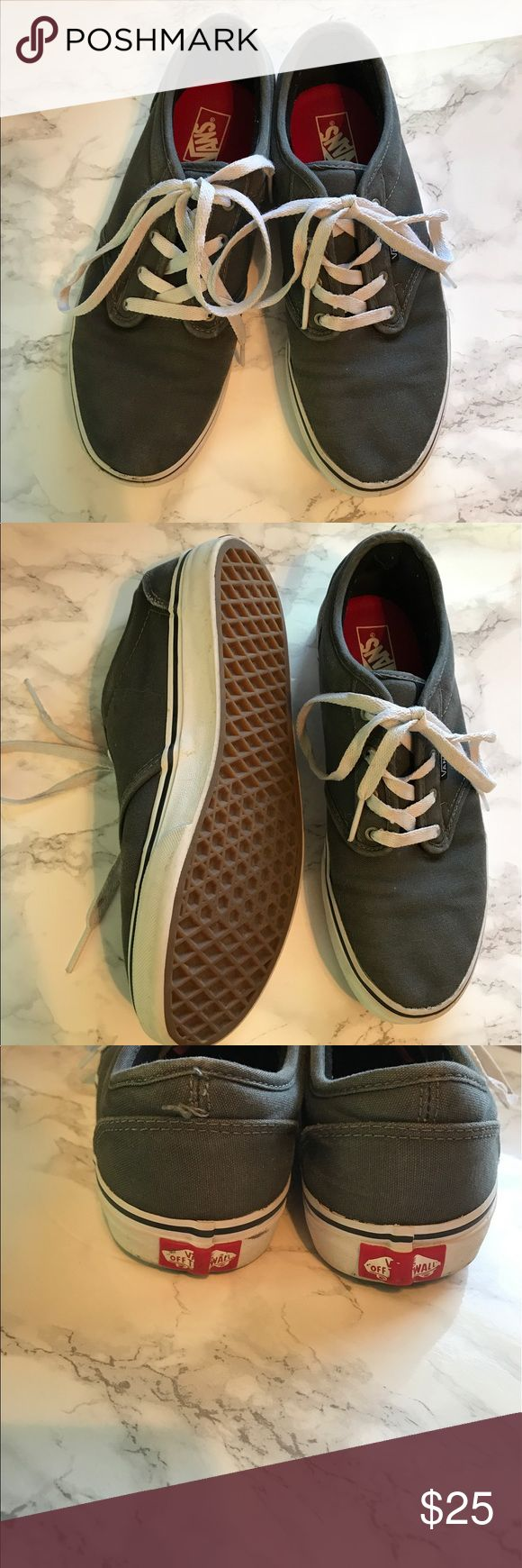 Boys Vans Shoes Gray Size 7 Great condition. See photos for details. Smoke free, pet friendly home. Vans Shoes Sneakers