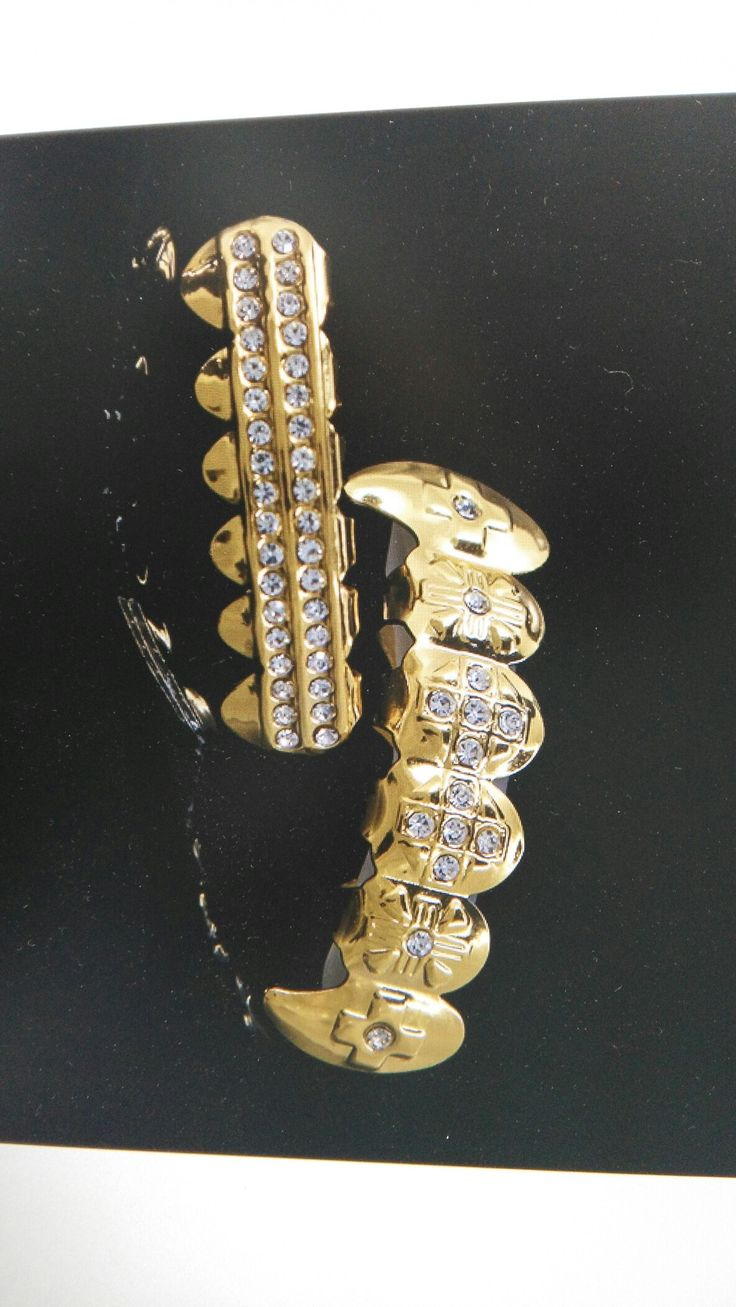 Hip hop Grillz, gold teeth with real gold plating unisex teeth grills