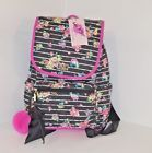 Betsey Johnson BACKPACK floral Flap over + POUCH Set Stripe Quilted Bag Special deal #betseyjohnson #quiltedpouch #quiltedbackpack