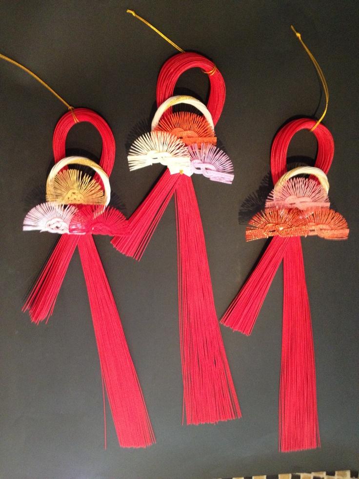 New Year ornaments  Nagasawa betrothal gift shop Co., Ltd.有限会社ながさわ結納店 HAKATAMIZUHIKI#japan #mizuhiki #wedding #yuino #fukuoka#hakata