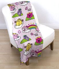 MR MEN & LITTLE MISS ~ Pink Fleece Blanket