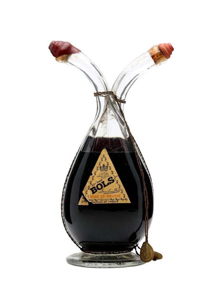 Bols Liqueur / 2 Compartment Bottle / Bot.1950s