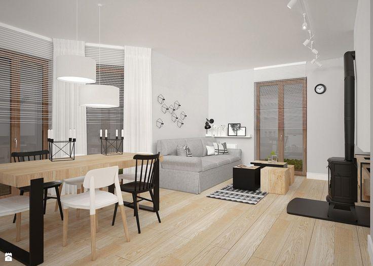 styl skandynawski kraków - zdjęcie od Archomega Biuro Architektoniczne - Salon - Styl Skandynawski - Archomega Biuro Architektoniczne
