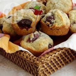 This is a quick and easy recipe for kid-friendly cherry muffins with a fragrant hint of almond