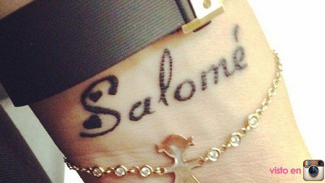 James Rodriguez y tatuaje de Salome
