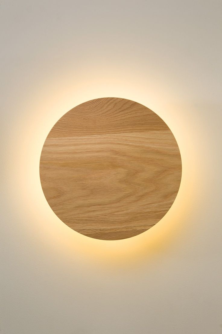 wooden circle light