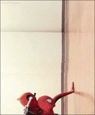 haha, lol, batman, spiderman, deadpool GIF
