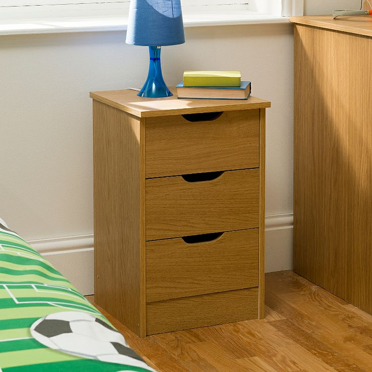 157,176 £39.00 - two of these would still be a bit narrow...37 x 36 x 59cm. Chicago 3 Drawer Bedside Chest | Bedside Tables | ASDA direct