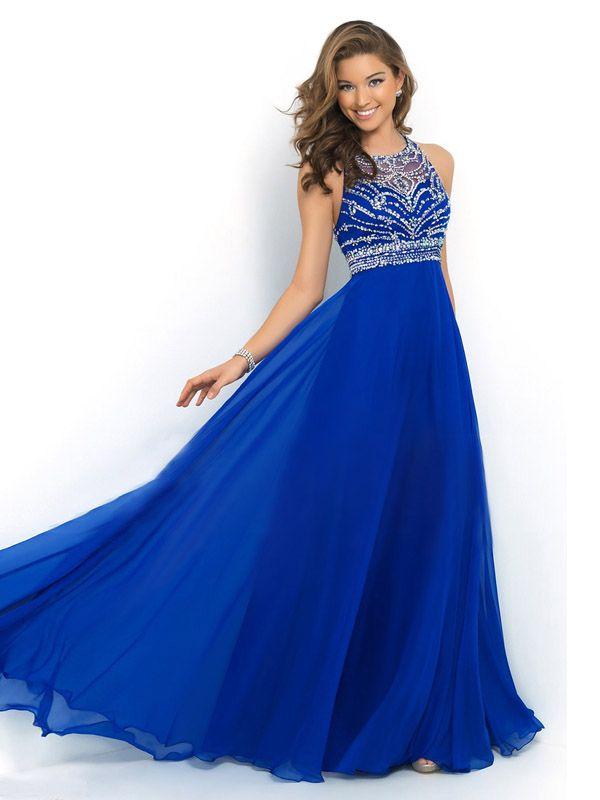 long prom dress 2016, royal blue prom dresses beaded