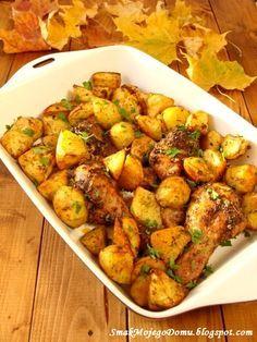 Smak Mojego Domu: Kurczak w ziołach, pieczony z ziemniakami