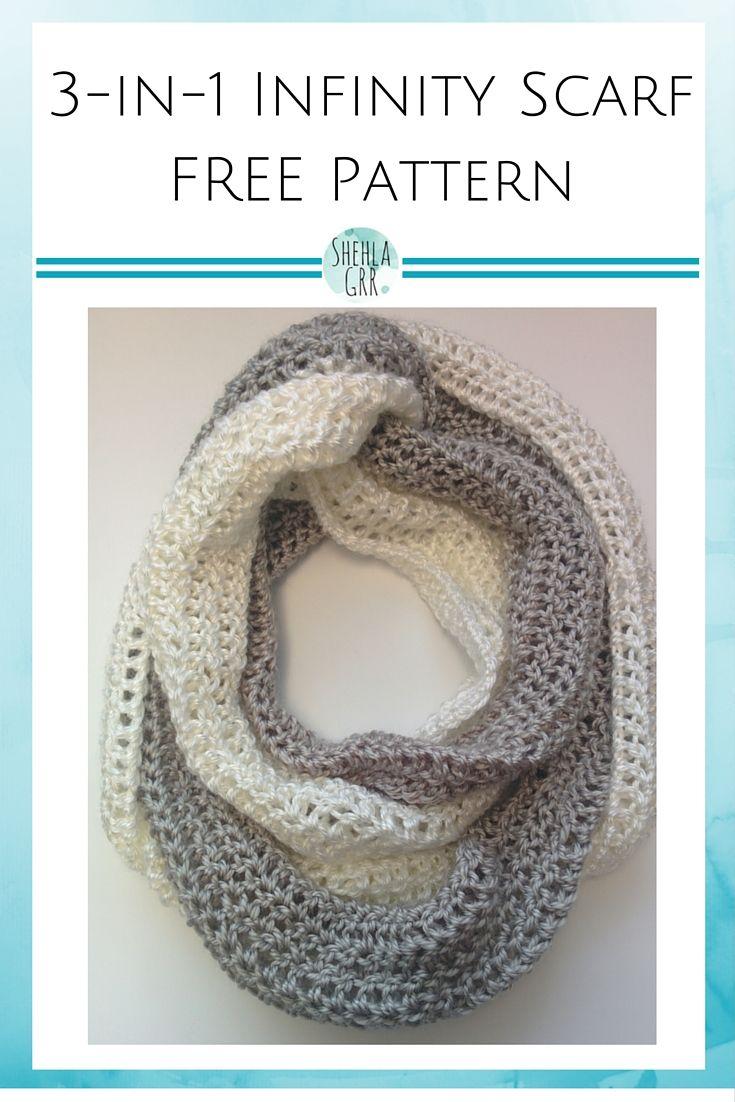 3 In 1 Infinity Scarf Free Crochet Pattern Shehlagrr Crochet