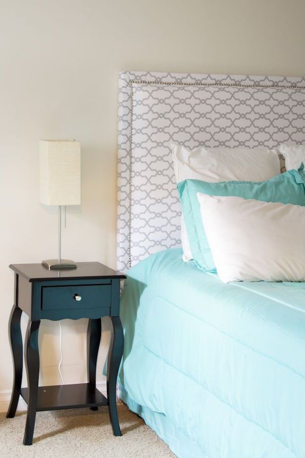 Fabric Headboard DIY Room Makeover Ideas