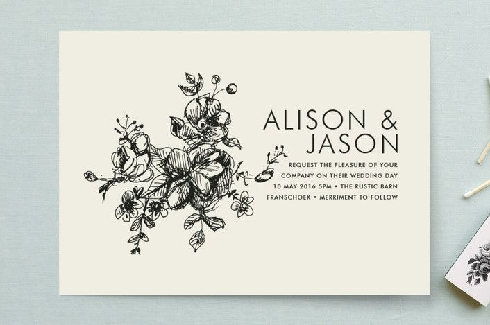 The BEST source for wording casual wedding invitations.