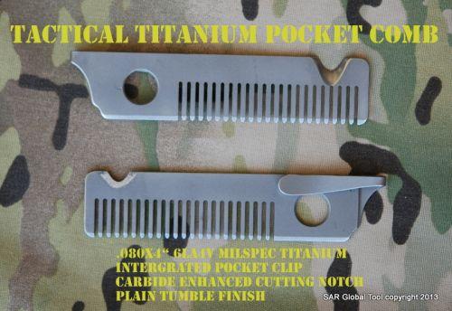 Tactical Titanium••Pocket Comb