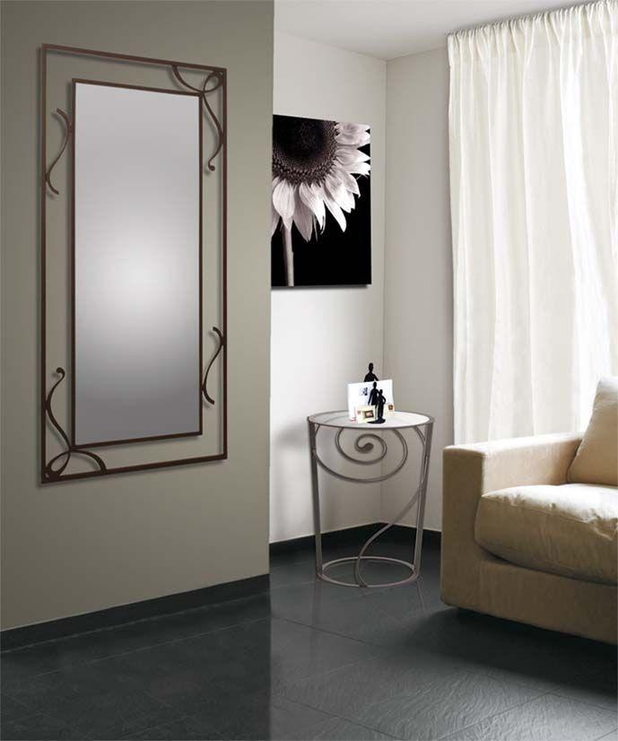 Spiegel aus Schmiedeeisen, Modell DONA. Dekoration Beltrán, Ihr Spiegel-Shop im Internet für dekorative Eisenspiegel.