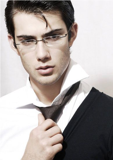 business styles--classic rimless eyeglasses, suit  #fashion #mensfashion #rimless eyeglasses #eyewear