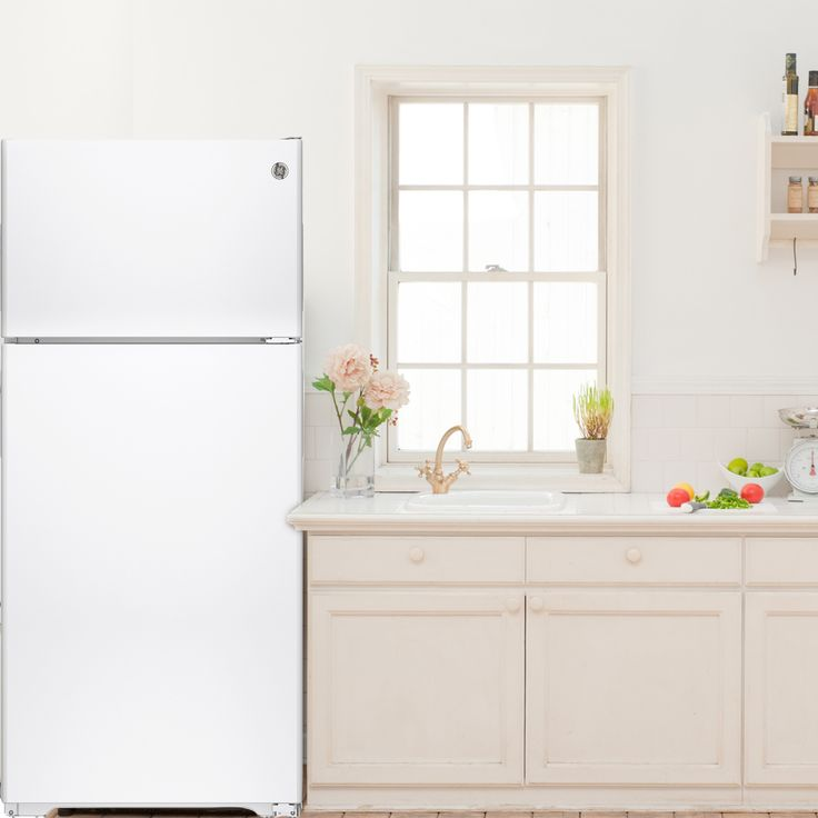"""GE 28"""" 14.6 CuFt Compact Refrigerator   ON SALE $389.99  Larger Items Are Easily Accommodated in the Gallon Door Storage  With its easy-to-use upfront temperature controls you can regulate both fresh food and freezer sections The adjustable wire shelves can handle a variety of foods. Transparent drawers make finding your favorite items quick and easy. Easily adjust the freezer shelf between two positions to accommodate items of all shapes and sizes."""