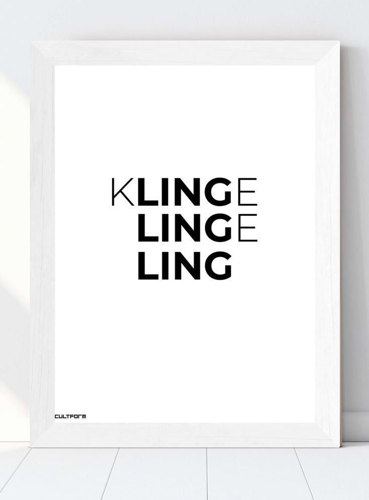 Christmas Graphic Typo Klingeling Download Timeless. in. form. CULTFORM