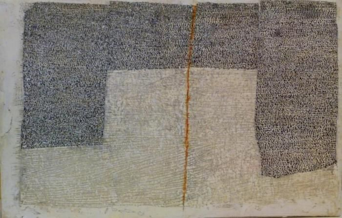Jenny Sages  Step by Step 2011  encaustic and pigment on board27x43cm