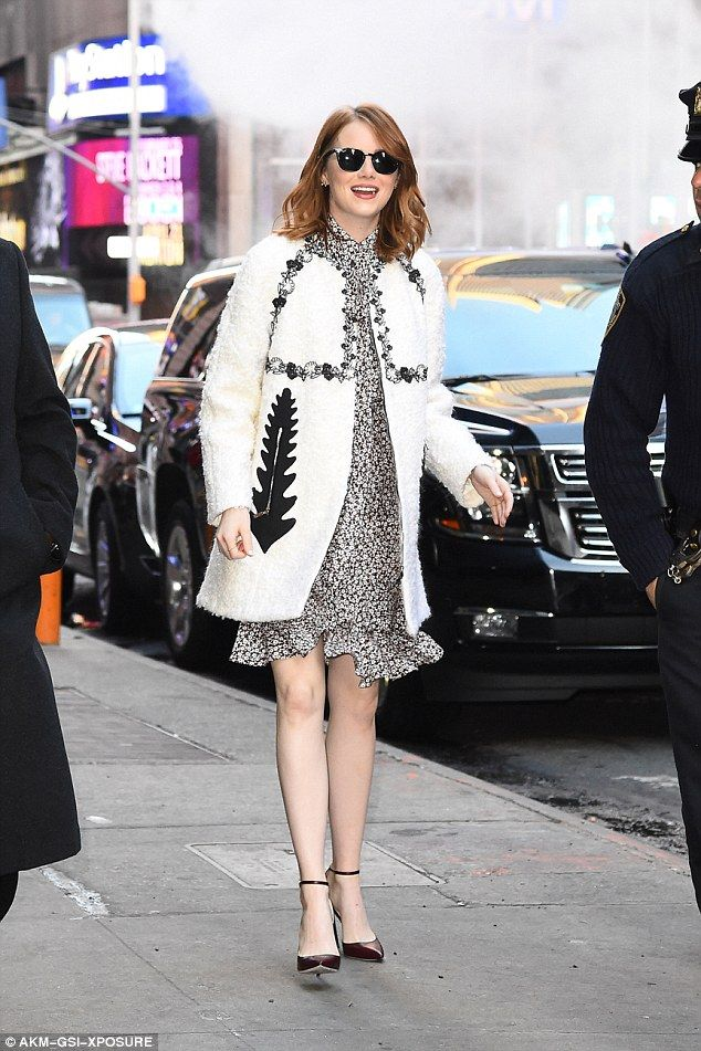 Fantastic in floral: Emma Stone was a sight for sore eyes as she arrived at the Good Morni...