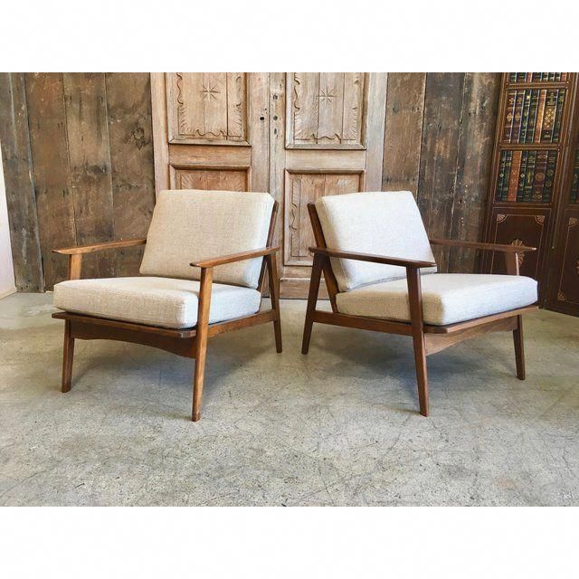 Awesome Mid Century Lounge Chairs A Pair Image 2 Of 12 Creativecarmelina Interior Chair Design Creativecarmelinacom