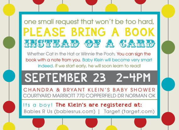 I want these for a baby shower!!!! bring a book is SOOOOOOO neat!!!!!  Alphabet Baby Shower Invitations by CrystalShireyDesign on Etsy, $15.00
