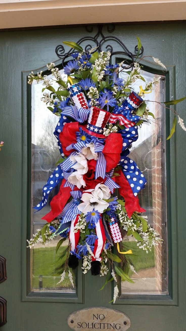 64 best Wreaths 4th, Memorial, Labor Day images on Pinterest ...