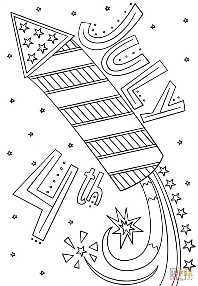 4th Of July Coloring Pages Coloring Pages For Kids Flag