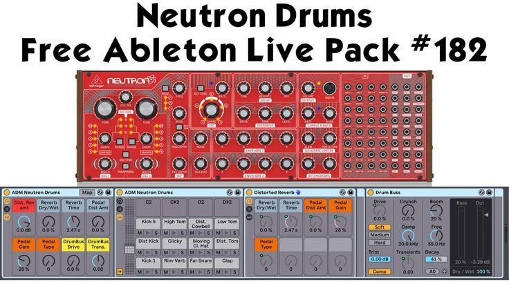 Analog synthesized drums behringer neutron drums free
