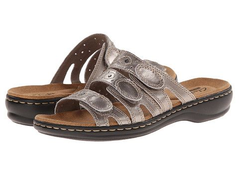 Clarks Leisa Cacti Q Pewter Leather - Zappos.com Free Shipping BOTH Ways