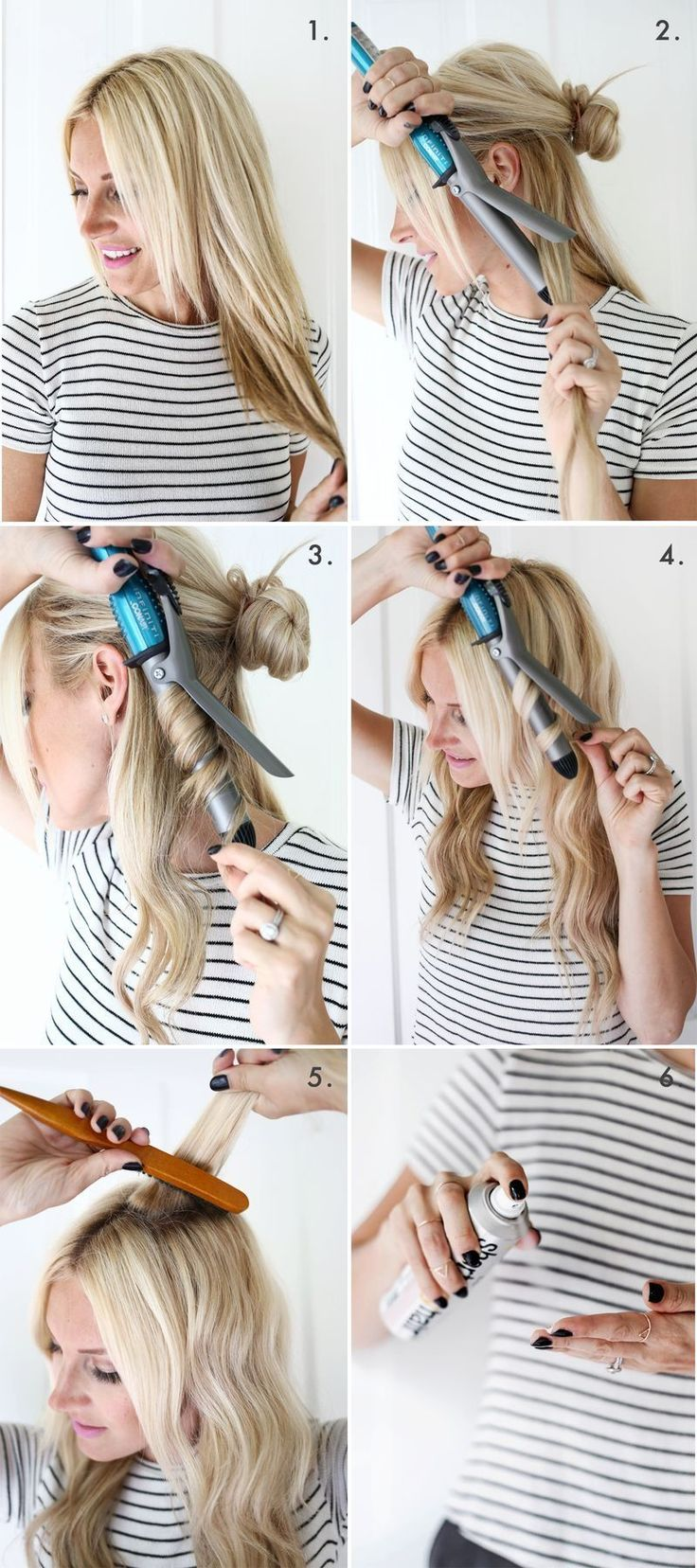 Make romantic curls yourself: How to use the curling iron properly Did you know that the curls were already thousands of years ago in the trend ...