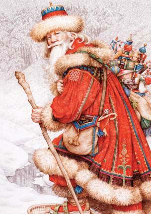 """""""Father Christmas with Toys"""" - by Anne Yvonne Gilbert."""