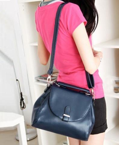 Simple Blue Shoulder Bag #sheinside