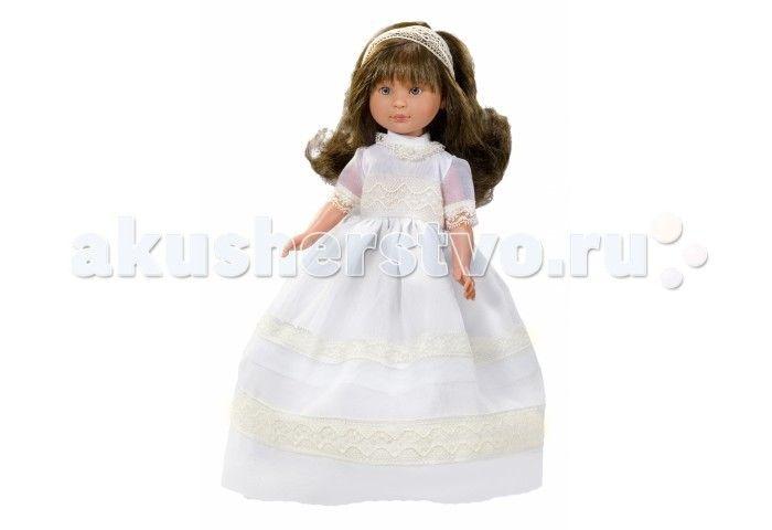 ASI Кукла Селия 30 см 1160207  ASI Кукла Селия 30 см 1160207   Эта милая невеста так очаровательна и грациозна в белоснежном платье! Чудесная кукла  из винила станет любимицей вашего ребенка, она устойчиво стоит на ровных ногах.  Длинные каштановые волосы, распущены и слегка завиты. Аккуратный бант из органзы украшает миниатюрную головку.  Все куклы ASI создаются с использованием ручного труда. В каждую куколку мастер вкладывает свою душу! Ваш ребенок сразу почувствует тепло и доброту…