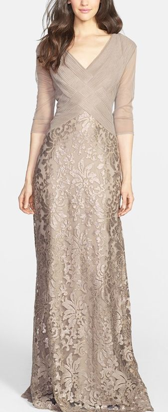 Champagne Mother of the Bride dres