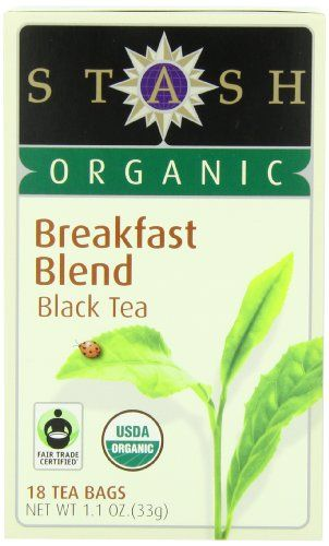 Stash Tea Company Organic Breakfast Blend Black Tea, 18 Count Tea Bags in Foil (Pack of 6) - http://goodvibeorganics.com/stash-tea-company-organic-breakfast-blend-black-tea-18-count-tea-bags-in-foil-pack-of-6/