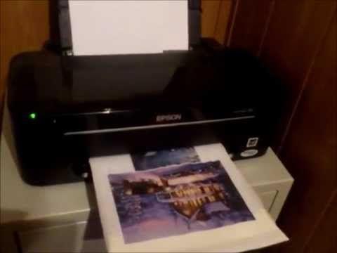 Декупаж. Как на салфетке напечатать нужный рисунок - YouTube
