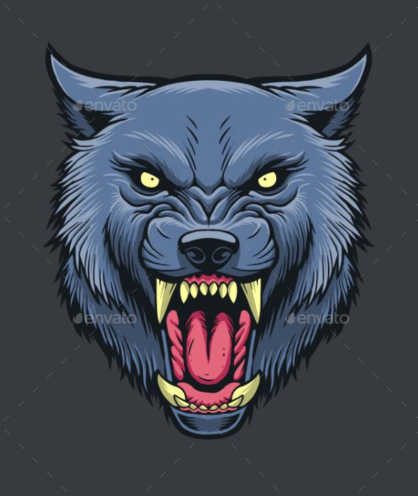 angry werewolf face-#30