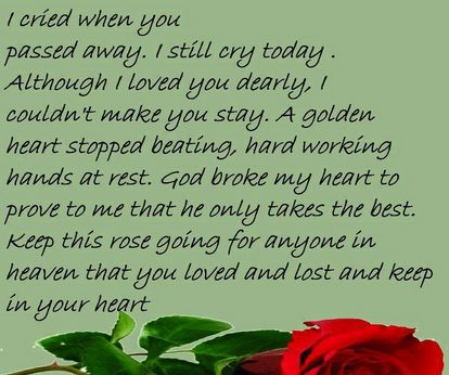 Treasured in my heart you'll stay, untill we meet again some day. Love and fear. Everything the father of a family says must inspire one or the other. To live in the hearts of others is never to die. Death is the last chapter in time, but the first chapter in eternity. Rest In Peace Quotes Sayings Images Pictures Status Messages for Whatsapp & Facebook http://123greetingsquotes.com/rest-in-peace-quotes-sayings-images-pictures-status-messages-whatsapp-facebook/