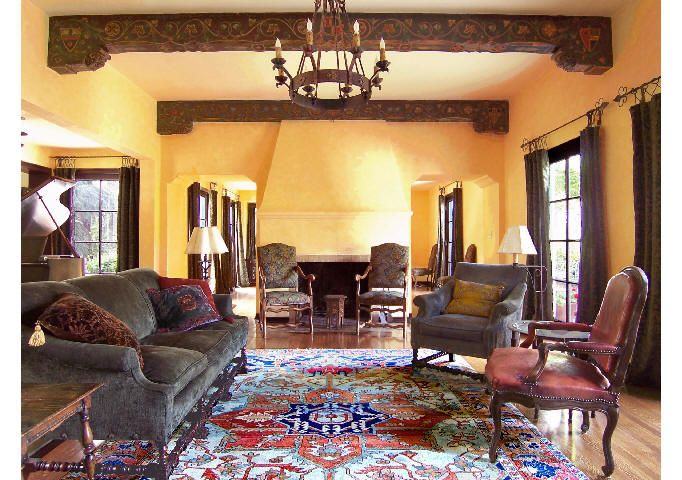 Old world style living room michael burch architects home decor pinterest spanish for Spanish colonial revival living room