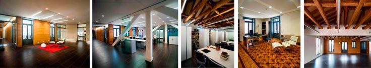 Rehabilitación Madrid - Vigas madera - Oficinas diseño
