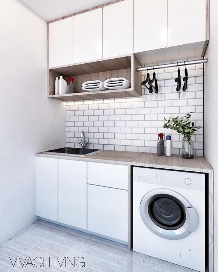 """189 Likes, 2 Comments - Vivaci Living And Interior (@vivaciliving) on Instagram: """"White and clean laundry room for Ms. Elis  . For any details and inquiries please do contact us…"""""""